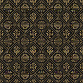Dark Wallpaper Chinese Pattern