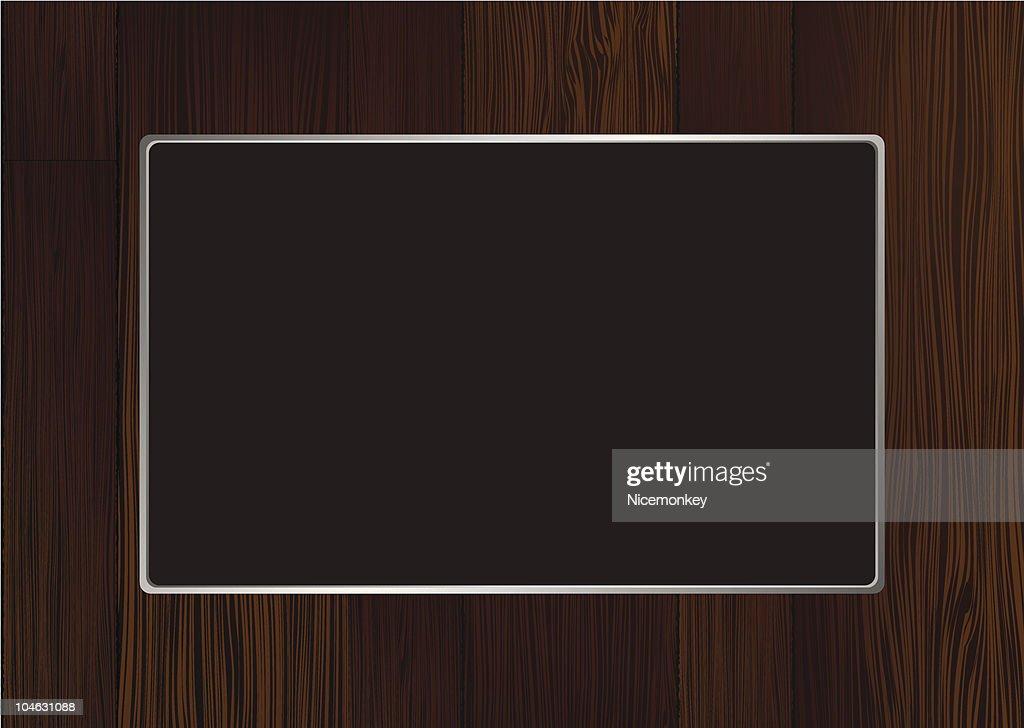 dark wood frame