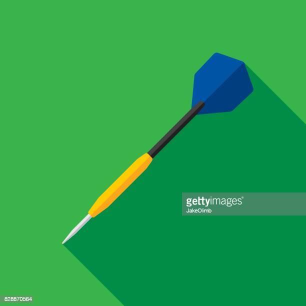 dart icon flat - dart stock illustrations, clip art, cartoons, & icons