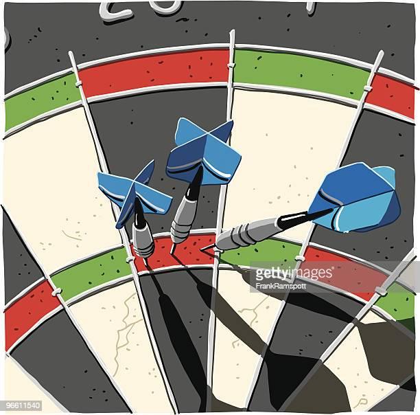 dart maximum score 180 - dart stock illustrations, clip art, cartoons, & icons