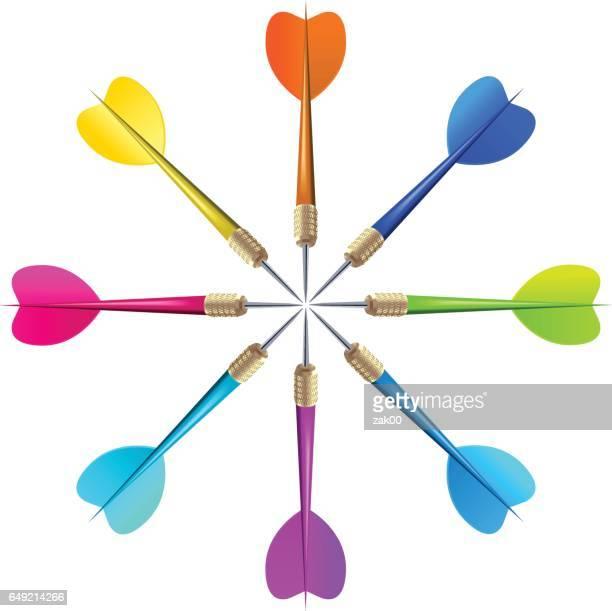 dart pin - dart stock illustrations, clip art, cartoons, & icons