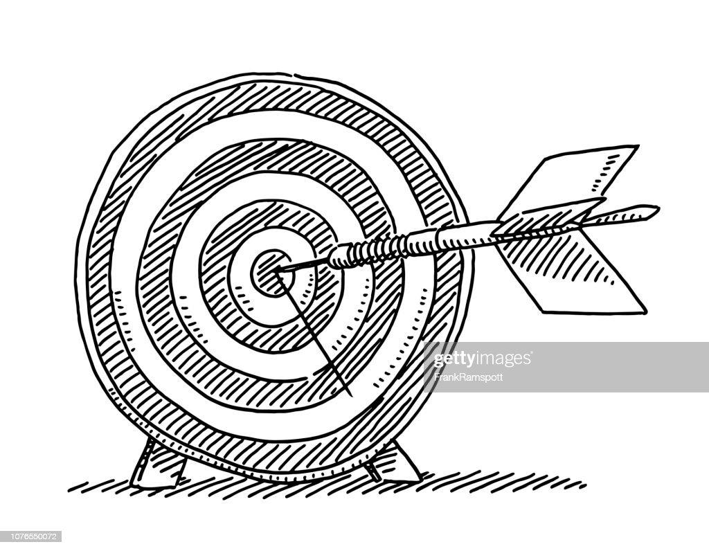 Dart Erfolg Ziel Symbol Zeichnung : Vektorgrafik