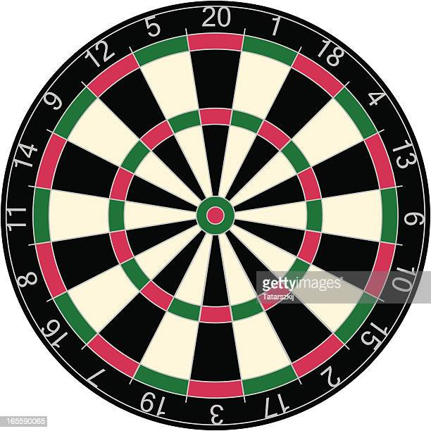 dartboard - dart stock illustrations, clip art, cartoons, & icons
