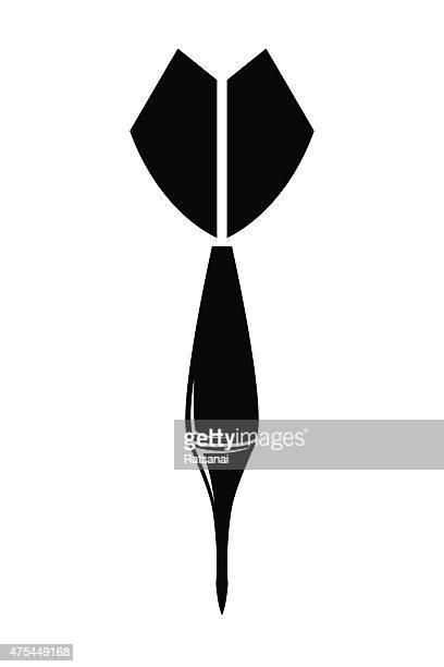 darts icon vector - dart stock illustrations, clip art, cartoons, & icons
