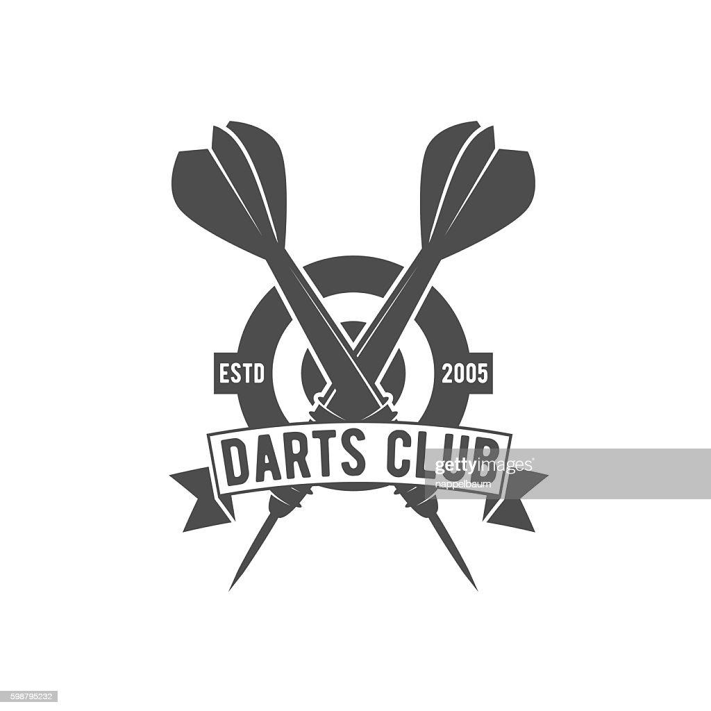 Darts label,  badge, vector logo