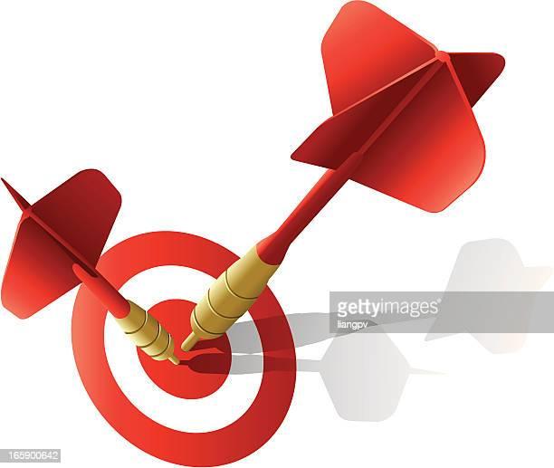 darts & target - dart stock illustrations