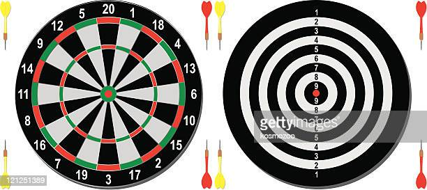 darts - dart stock illustrations, clip art, cartoons, & icons