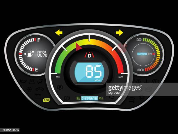 dashboard battery car - letrac stock illustrations