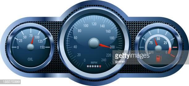 dashboard - odometer stock illustrations, clip art, cartoons, & icons