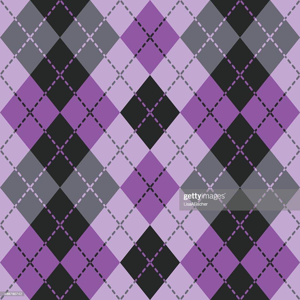 Dashed Argyle in Purple