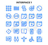 Dashed Outline Icons Pack for UI. Pixel perfect thin line vector icon set for web design and website application.