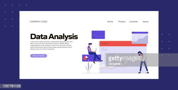 data analysis concept vector illustration for landing page template, website banner, advertisement and marketing material, online advertising, business presentation etc. - homepage stock illustrations
