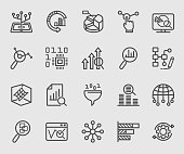 Data analysis line icon