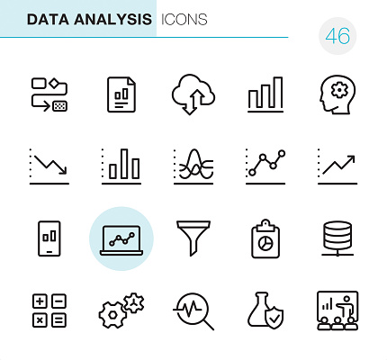 Data Analysis - Pixel Perfect icons - gettyimageskorea