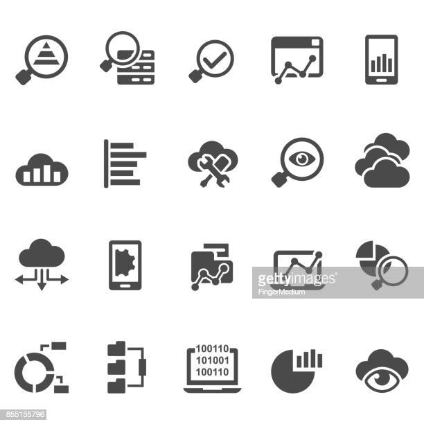 Data analytics icon set