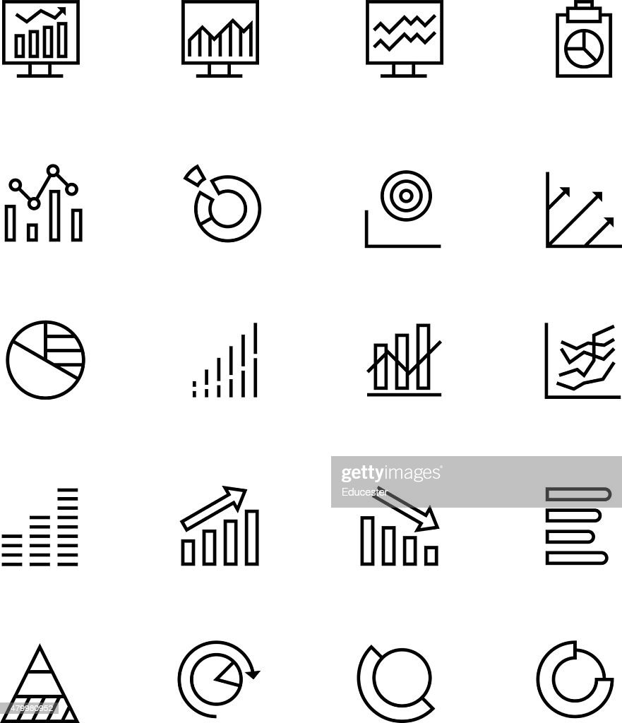 Data Analytics Line Vector Icons 3