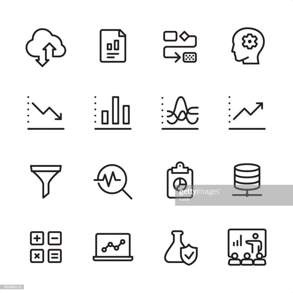 Data Analytics - outline icon set