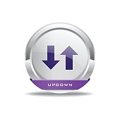 Data Circular Vector Purple Web Icon Button