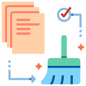 Data cleaning flat illustration