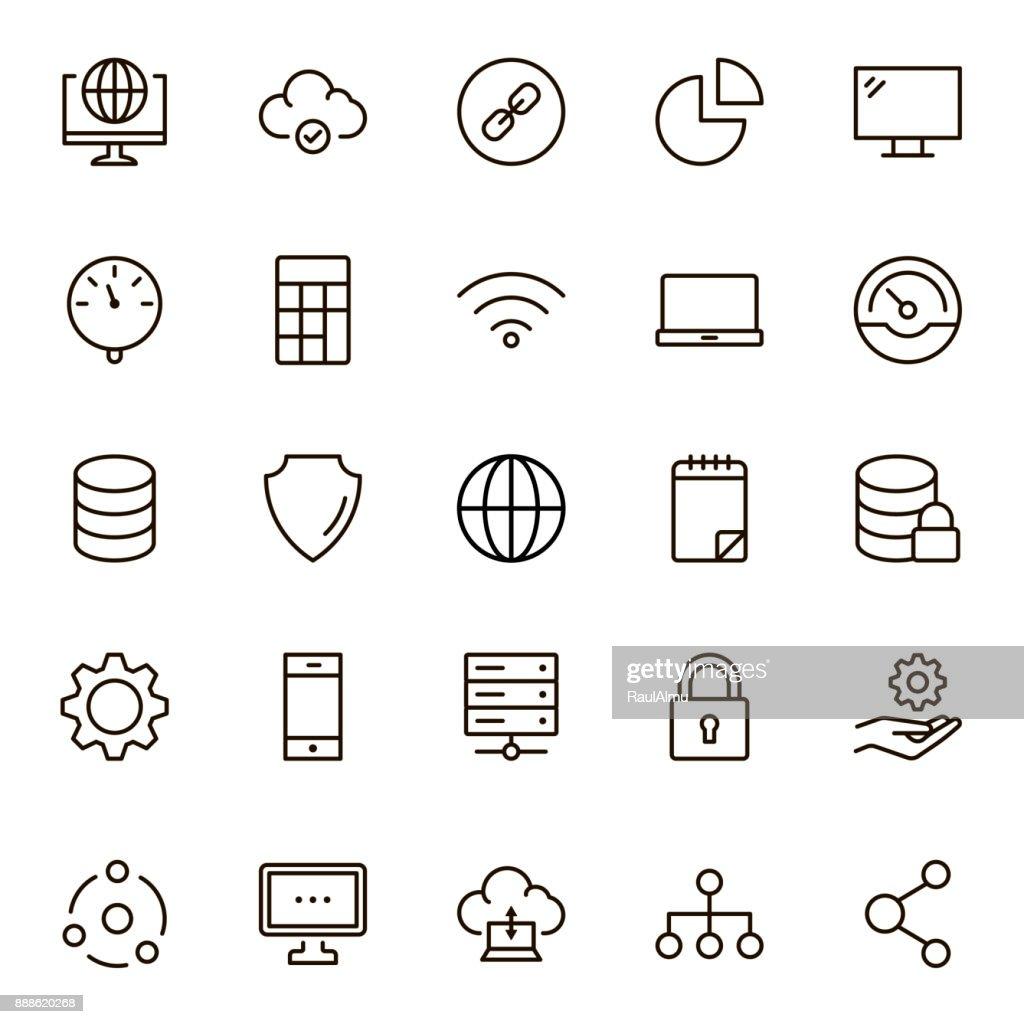 Data flat icon