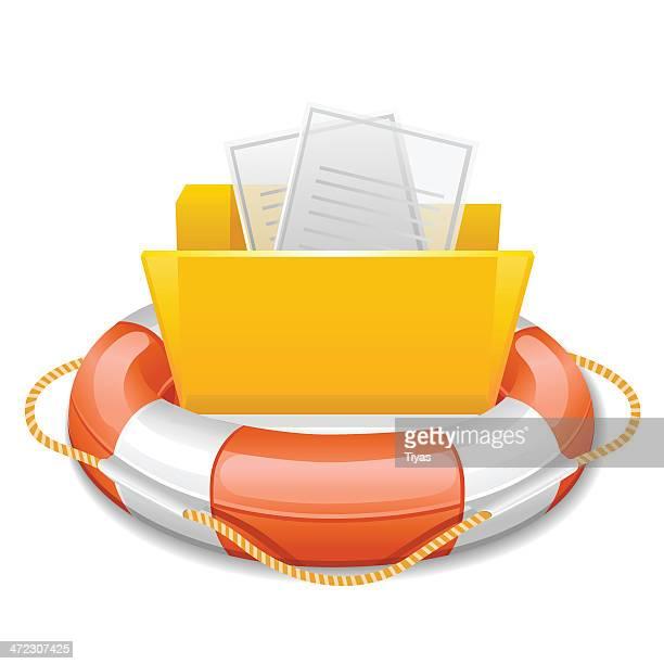 Data folder in life buoy