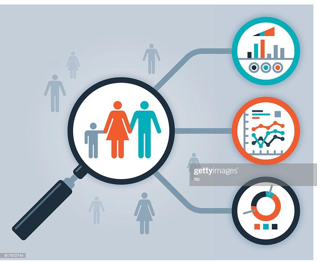 Data People Analytics and Statistics : stock illustration