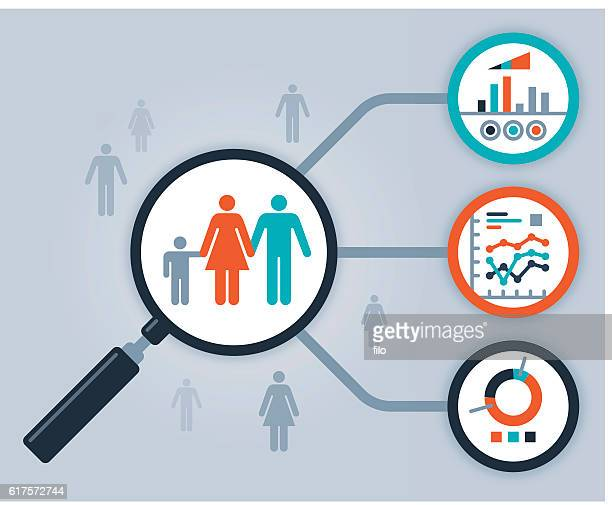 ilustraciones, imágenes clip art, dibujos animados e iconos de stock de data people analytics and statistics - analizar