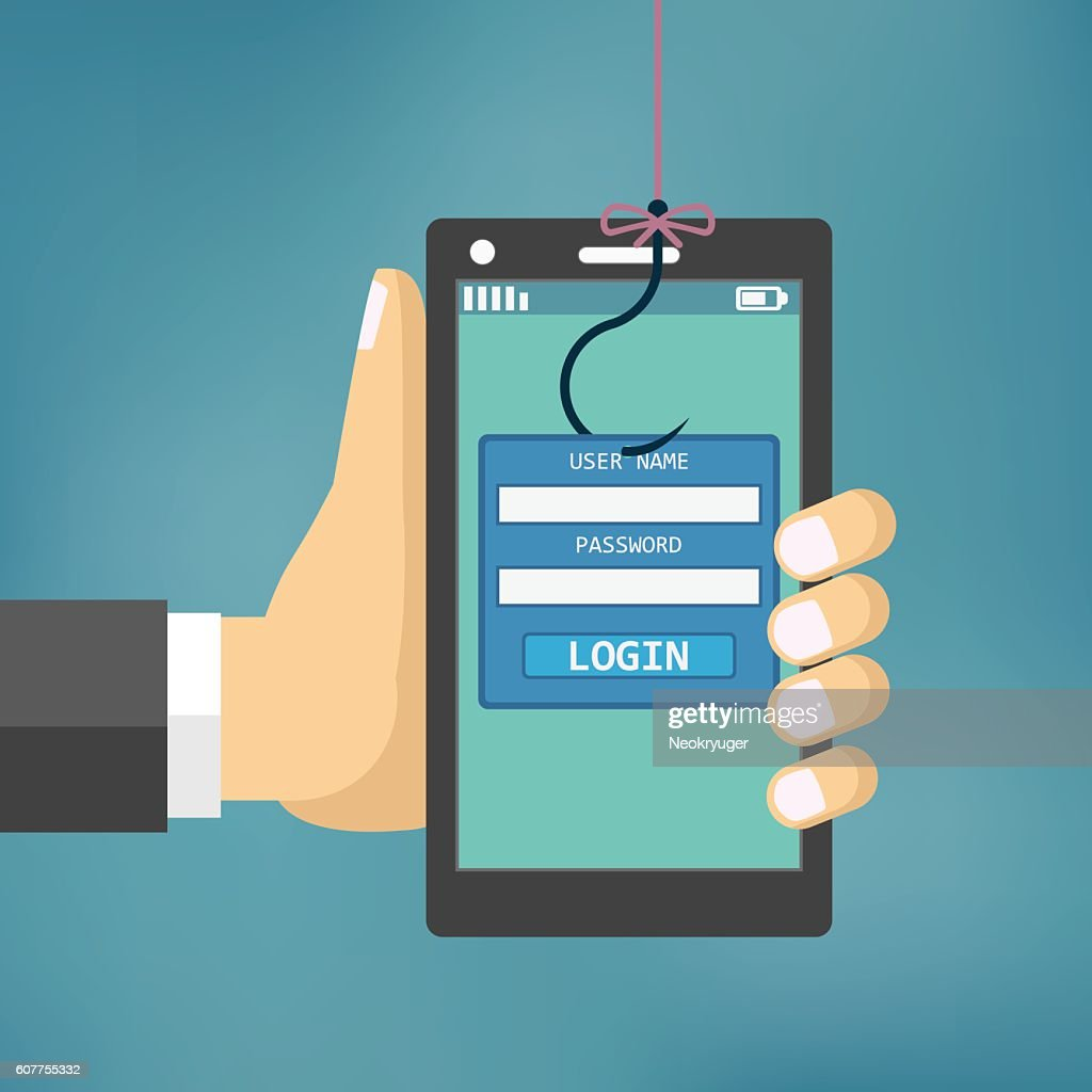 Data Phishing with fishing hook.