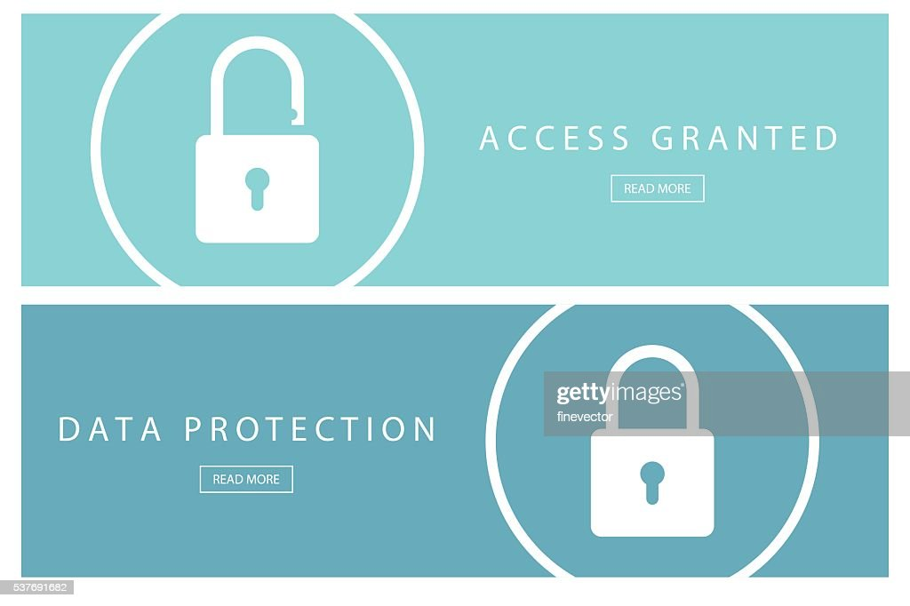 Data protection and Access granted banners.