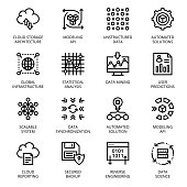 Data Science outline Icons