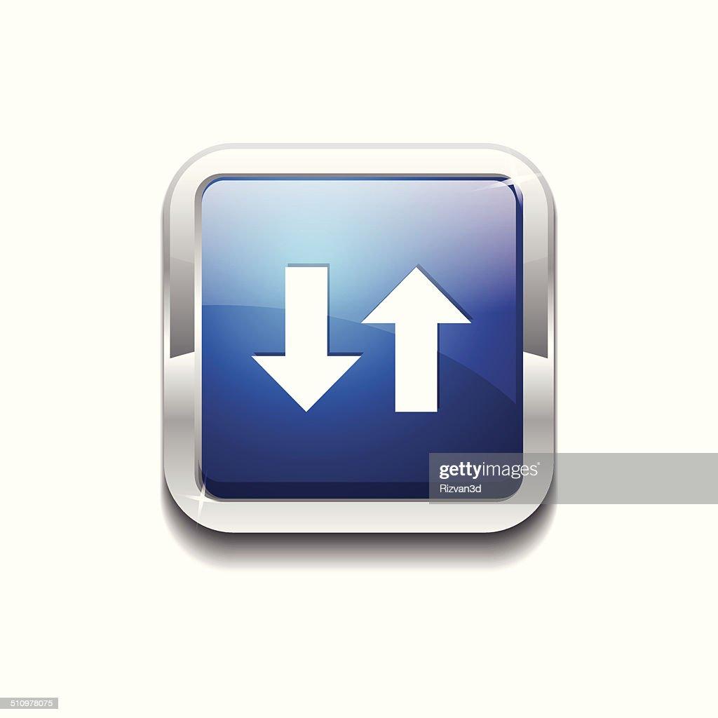 Data Square Vector Blue Web Icon Button