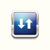Data Square Vector Blue Web Icon Button