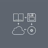 data storage devises icons
