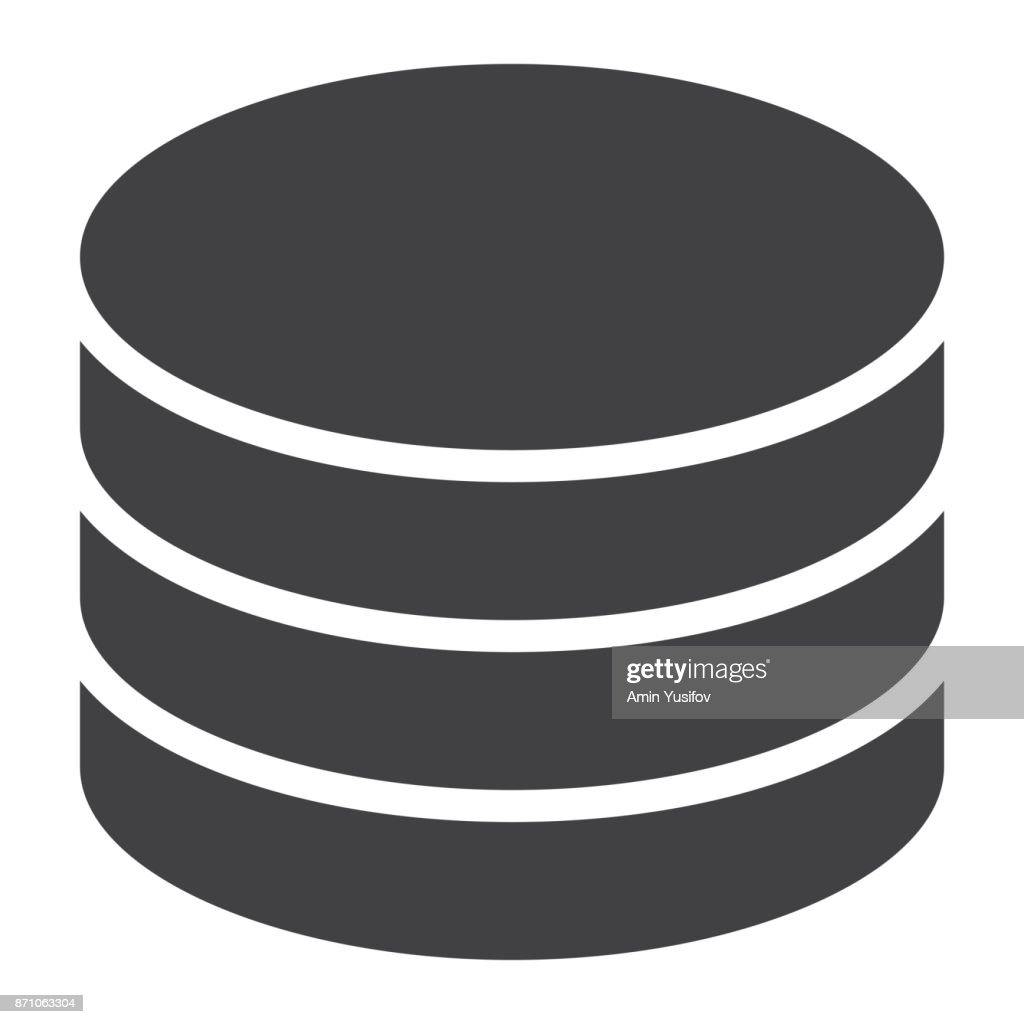 Data Storage glyph icon, web and mobile, database sign vector graphics, a solid pattern on a white background, eps 10.