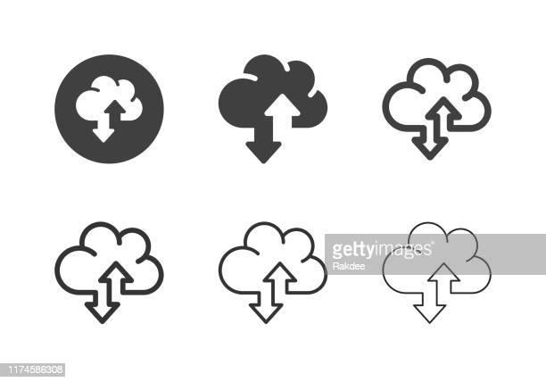 データ転送アイコン - マルチシリーズ - バックアップ点のイラスト素材/クリップアート素材/マンガ素材/アイコン素材