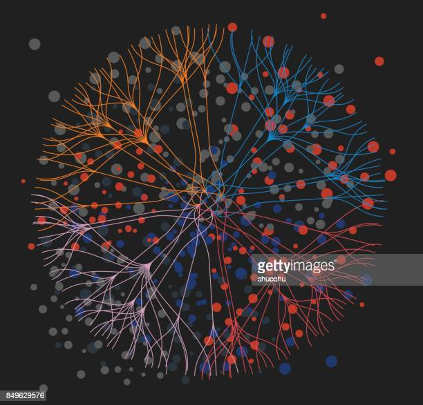 data visualization background - big data stock illustrations