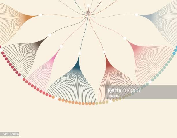 データ可視化パターン背景 - 元素記号点のイラスト素材/クリップアート素材/マンガ素材/アイコン素材