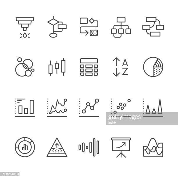 data visualization vector icons - dashboard stock illustrations