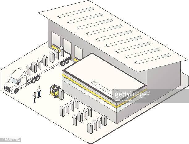 データ保管庫 - 荷積み場点のイラスト素材/クリップアート素材/マンガ素材/アイコン素材