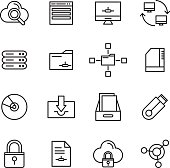 Database And Storage Icons