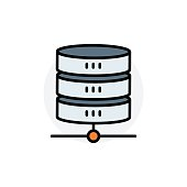 Database concept Isolated Line Vector Illustration editable Icon