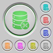 Database cut push buttons