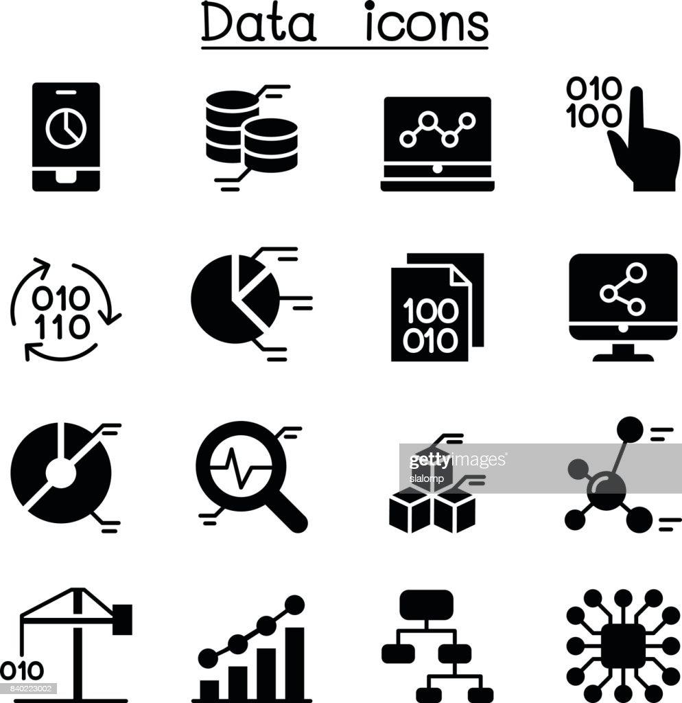 Database , Data Analysis, Data management icons