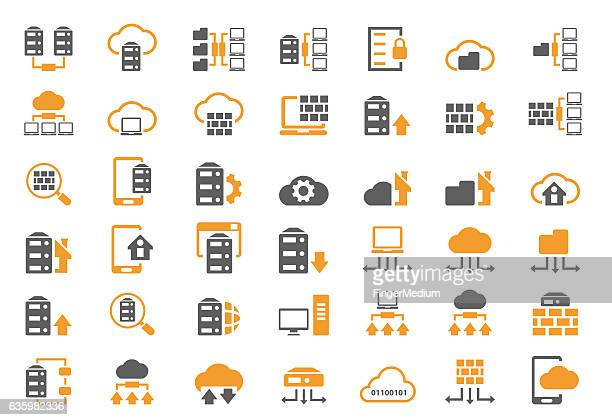 Ensemble d'icônes de base de données