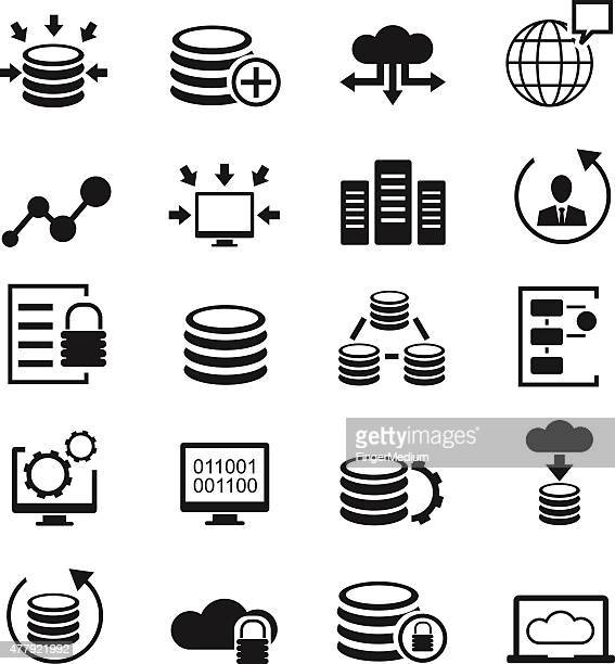 Datenbank-icons set