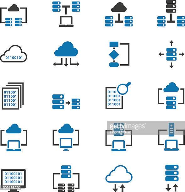 database icons - storage room stock illustrations, clip art, cartoons, & icons