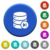 Database macro next beveled buttons