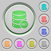 Database processing push buttons