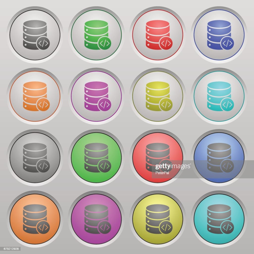 Database programming plastic sunk buttons