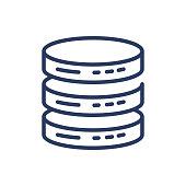 Database thin line icon